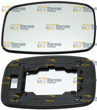 TarosTrade 57-0530-R-46281 Vetro Specchietto Retrovisore Con Fissaggio Quadrato Lato Destro
